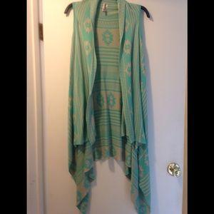 Aztec print shawl - small